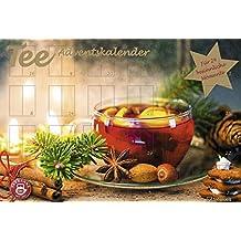 Tee-Adventskalender 2017 - Teekalender, Adventskalender, 25 Teekompositionen für eine genussvolle Adventszeit - 56 x 38 cm
