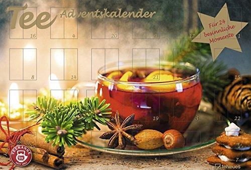 Preisvergleich Produktbild Tee-Adventskalender 2018 - Teekalender,  Adventskalender,  25 Teekompositionen für eine genussvolle Adventszeit - 56 x 38 cm