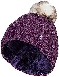 99ca282b056 HEAT HOLDERS - Ladies Warm Knit Fleece Lined Cuffed Thermal Winter Bobble  Hat Pom Pom