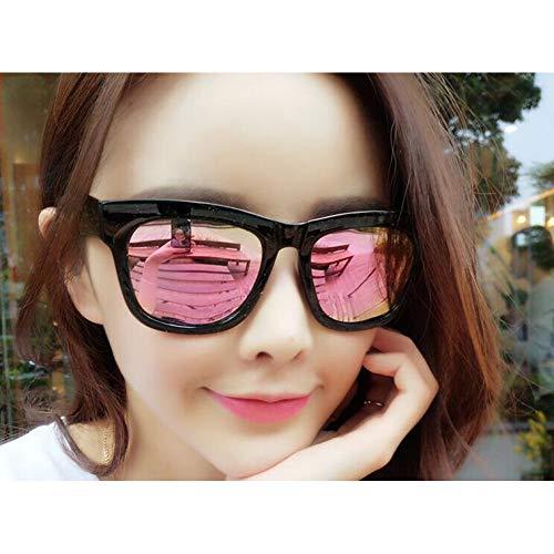 Taiyangcheng Vintage Square Sonnenbrille Männer Schwarz Frame Beschichtung Objektiv Anti-Reflektierende Sonnenbrille,Rosa