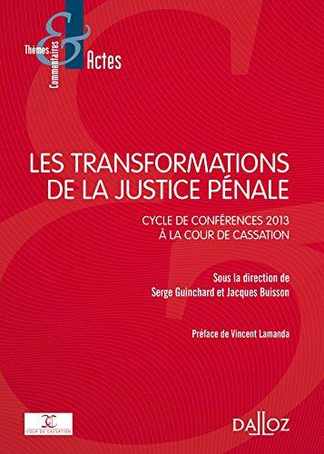 Les transformations de la justice pnale