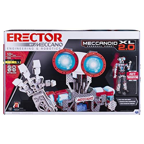 Meccano Tech Meccanoid 2.0 XL - programmable Toys (Negro, Azul, Gris, Rojo, Color Blanco)