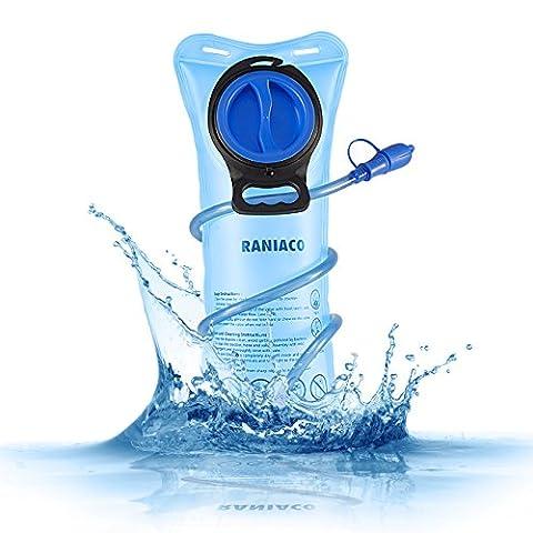 Poche Hydratation Portable 2 litres, RANIACO Poche a Eau,Réservoir d