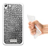 WoowCase Wiko Selfy 4G Hülle, Handyhülle Silikon für [ Wiko Selfy 4G ] Tier Schwarze Haut des krokodils Handytasche Handy Cover Case Schutzhülle Flexible TPU - Transparent