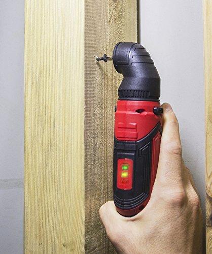 Matrix 120310021 AK 4 Quattro Mini Akkuschrauber mit 4 Aufsätzen in Tasche mit Zubehör und Bits, klein, 1500 mAh Li-Ion Akku, Schnelllader, 6 W, 4 V, Rot