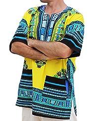 RaanPahMuang - Camiseta africana unisex de algodón, varios colores