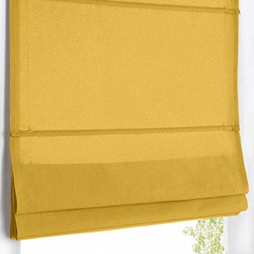 La redoute scenario tenda a pacchetto oscurante puro cotone taglia 170 x 50 cm giallo