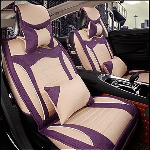 Completa l'ammortizzatore di sede Surround Lino Car ( colore : Beige-B. )