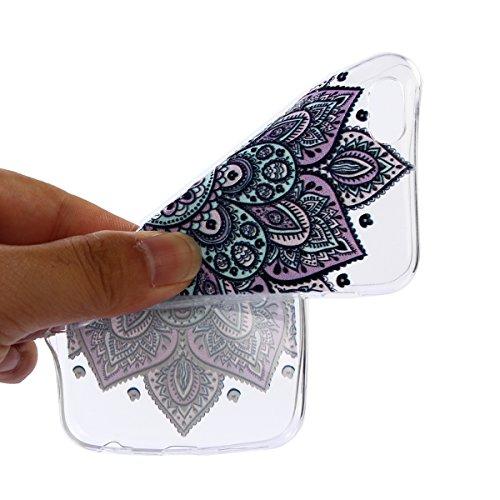 iPhone 6S Custodia, iPhone 6 Cover Silicone, JAWSEU Apple iPhone 6S/6 4.7 Case Caso TPU Ultra Sottile Cristallo Chiaro Luminoso Bella Modello Brillante Trasparente Custodia Cover per iPhone 6S Protezi Floreale Porpora