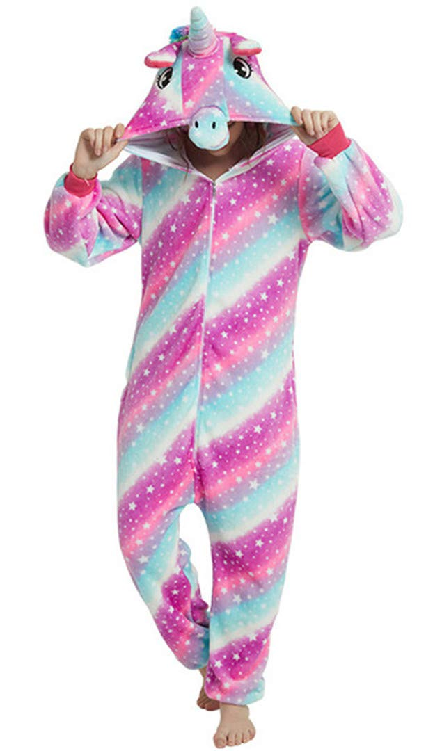Silver Basic Niños Unicornio Pijamas Cosplay Unicorn Disfraces Animales Franela Monos Unisex-Adulto Ropa de Dormir Disfraces de Fiesta Mujer Kigurumi