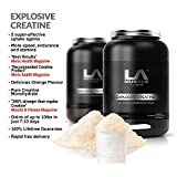 LA Muscle Explosive Creatine, rated 300% stronger than regular Creatine by Muscle & Fitness Magazine, best-seller since 1998, 5 uptake agents, delicious instant mixing super-supplement, gains of up to 10lbs in just 7-10 days guaranteed, special Amazon Pri