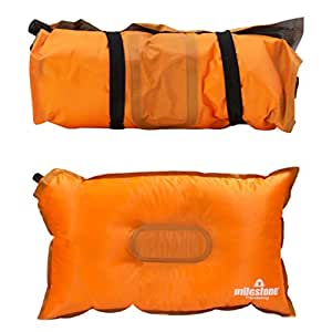 Milestone Camping 17090 Self Inflating Camping Mat, Orange, L183xW55xH2.5cm