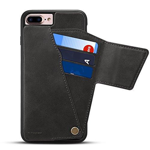 Handyschutz für iPhone 6 Plus 6S Plus PU Leder Hülle mit Kartenfach und  Geldscheinfach drehbar db75aa986c