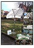 Holly 2018 FÄCHERSCHIRM - Farbe Natur - hoher UV Schutz - mit Schirmstock - Rasenspieß - Befestigung - Produktion Baden WÜRTTEMBERG - First - IT Fächerschirme Video - LIEFERBAR - Weiss - GELB -