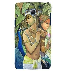 Citydreamz Radha Krishna/Spiritual/Gods/Flute/Janmashtmi Hard Polycarbonate Designer Back Case Cover For Samsung Galaxy On5