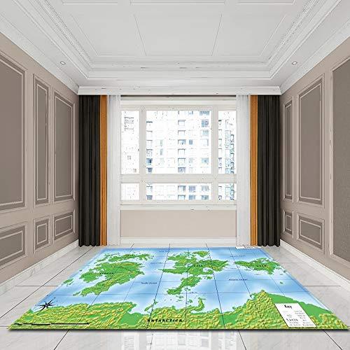 Tecnolygy Alfombras Rectangulares Mapa del Mundo