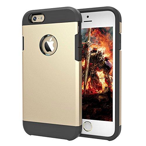 TECHGEAR® Apple iPhone 6Slim Leder Flip Schutzhülle Cover mit Schließen N Verwendung Fähigkeit GOLD (TOUGH ARMOURED)