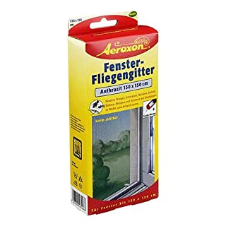 Aeroxon Fenster Fliegengitter Anthrazit 1 St