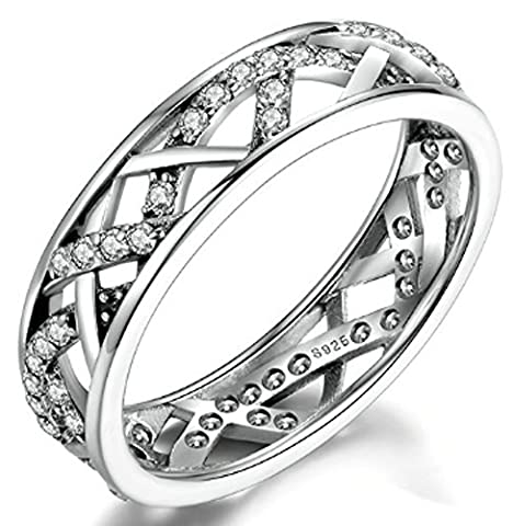 SaySure - 925 Sterling Silver Galaxy Rings (SIZE : 6)