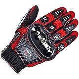 MADBIKE dedo completo guantes de moto motocicleta para verano (red-size L)
