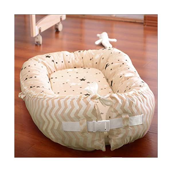 LNDD-Baby Nest Cushion Travel Bionic Uterine Bed Sleeping Pods Sleeping Bag Cotton Snuggle Suitable for Newborn Children From 0-18 Months,Brown LNDD ★COTTON FABRIC: This product is cotton fabric, surrounded by pp cotton padding, the bottom plate is a high-elastic sponge, which makes the small bed skin-friendly and better protects the baby's growth and development. ★IMITATION UTERUS DESIGN: 306° wrap around wraparound compact space as if in a familiar uterine environment, designed to sleep deeply throughout the night. ★RETRACTABLE DESIGN: 0-10 months to close the sleep Adjustable tightness helps to extend the sleep time in the middle of the night, 10-18 months to open the sleep to extend the use time to improve cost performance. 1