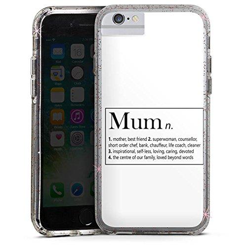 Apple iPhone 6 Plus Bumper Hülle Bumper Case Glitzer Hülle Mum Mama Muttertag Bumper Case Glitzer rose gold