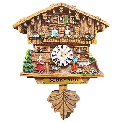 Ciffre Kuckucksuhr Magnet Polyresin Kühlschrank Handmade Braun - München