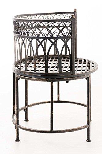 CLP Metall-Gartenbank AMANTI mit Armlehne, Landhaus-Stil, Eisen lackiert, Design antik nostalgisch, Form oval ca. 110 x 55 cm Bronze - 3