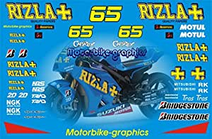 Suzuki Rizla 2010 Capirossi decals graphics stickers