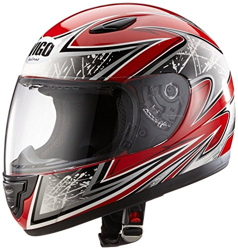 Protectwear Casco de moto de los niños rojo SA03-RT Tamaño S ( juven
