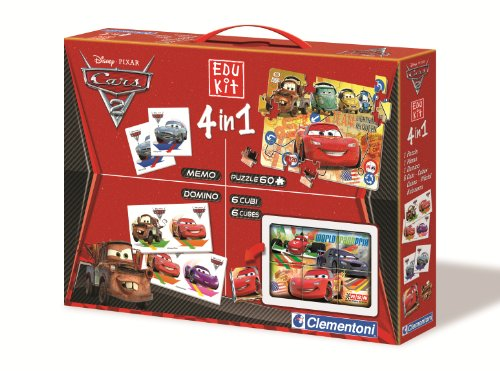 Clementoni 13737.4 - Edukit 4 in 1 Cars 2