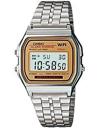 Casio A159W9D - Reloj Unisex metálico Oro / Plata