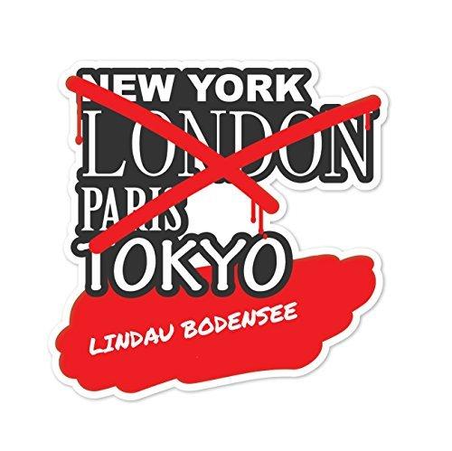 Preisvergleich Produktbild JOllify Aufkleber - LINDAU BODENSEE – Farbe: Design: Graffiti Streetart New York