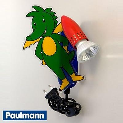 Paulmann Kinderleuchte Tabaluga 1x50W, 230V, Kinderzimmer Wandlampe Nachtlicht
