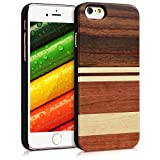 kwmobile Coque Apple iPhone 6 / 6S - Étui de Protection Rigide en Bois pour Apple...