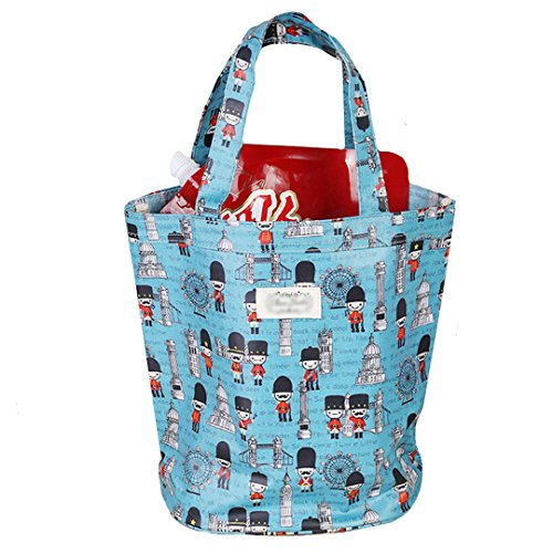 AiSi Damen Mädchen kleine Handtasche Einkaufstasche Schultertasche, Motiv blau Blau
