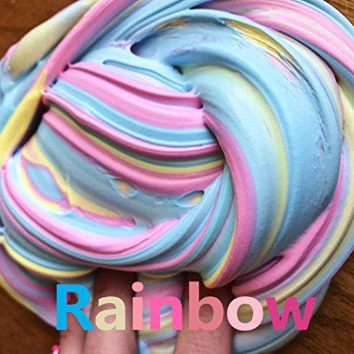 Tefamore Fluffy Floam Slime Squishy Huevo de limo suave de color suave juguete perfumado de relieve juguete jugos de lodo (B)