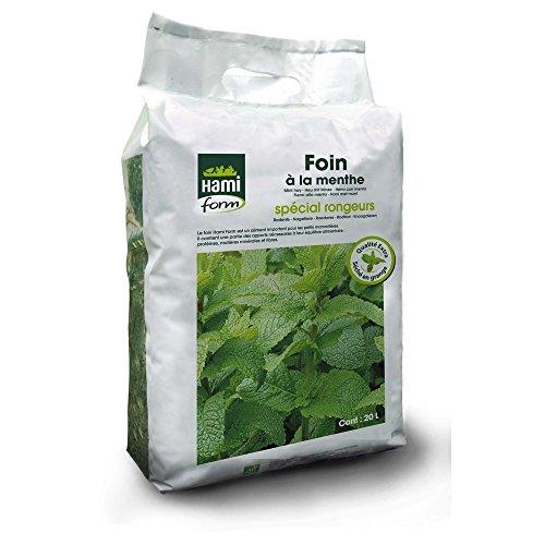 Foin pour Rongeurs, Premium à la menthe, 20 L - HAMIFORM