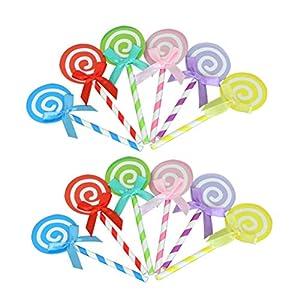 SUPVOX 60 STÜCKE Kuchen Topper Lutscher Bowknot Topper Cupcake Topper Kuchen Snack Dekorationen für Geburtstagsfeier Hochzeit (Farbe)