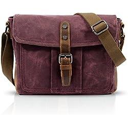 FANDARE New Sac à Bandoulière Ordinateur Portable 7.9 Pouces Envelope Bag Hommes Commerce Voyage Multifonctionnel Envelope Crossbody Bag Respirant Toile Rouge