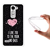 WoowCase LG Ray Hülle, Handyhülle Silikon für [ LG Ray ] Herz Liebe Satz - I Love You to The Moon and Back Handytasche Handy Cover Case Schutzhülle Flexible TPU - Transparent
