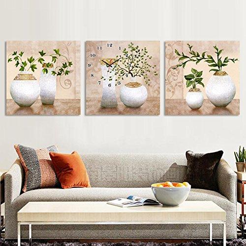 OLILEIOStilvolle Gemälde schmücken das Wohnzimmer keine Abendkasse zeichnen Wanduhr Schlafzimmer hängende Bild sofa Hintergrund Wandmalerei Anstecker, 50 * 50 * 3,25 mm dick Board crystal Film,