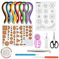 TUPARKA 15 PCS Paper Quilling Kits with 29 Colors 600 Strips Quilling Paper DIY Design Drawing Handcraft Tool
