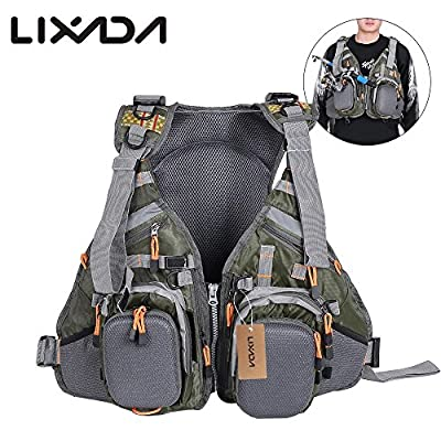 Lixada Men's Fishing Jacket Outdoor Breathable Camping Hunting 3 In 1 Fly Fishing Vest Waistcoat Jacket from Lixada