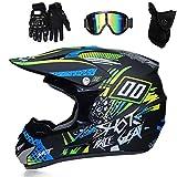 Die besten Full Face Motorradhelme - QYTK® MT-226 Integralhelm Motorradhelm, Full face Motocross Helm Bewertungen