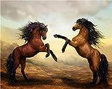 SKYTY Dipinto con Numeri Cavallo Zoccolo - Fai da Te Pittura A Olio Digitale Pittura Acrilica Set Decorazioni per La Casa per Bambini Adulti con Cornice 16x20 Pollici