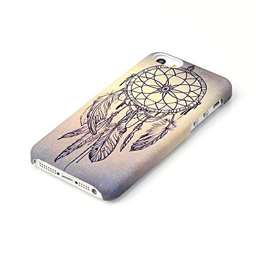 Meet de Coque Rigide Coquille Housse pour Apple iPhone 6 Plus / 6S Plus (5,5 Zoll) Case Cover Shell Coque Arrière Housse - Daisy Schmetterling Dreamcatcher