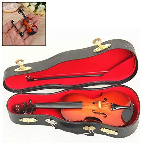 Klavier Holz Ständer (EisEyen Holz Msikinstrument Violine Ornamente Modell mit Box Tisch Deko als Spielzeug Geschenk für Kinder)