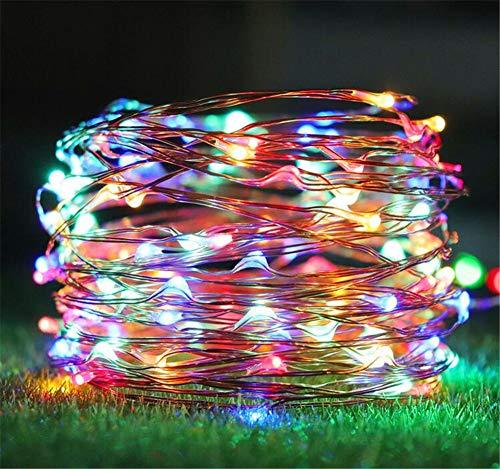ussen 10M Wasserdicht Dimmbar 8 Modi LD Kupferdraht Lichterkette Weihnachtsdekoration Party Garten Hochzeit Deko,Multicolor ()
