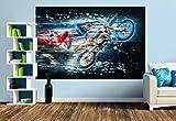 Premium Foto-Tapete Motocross (verschiedene Größen) (Size M | 279 x 186 cm) Design-Tapete, Vlies-Tapete, Wand-Tapete, Wand-Dekoration, Photo-Tapete, Markenqualität von ERFURT